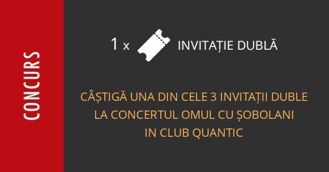 Concurs: câștigă una din cele 3 invitații duble la concertul Omul Cu Șobolani din Club Quantic