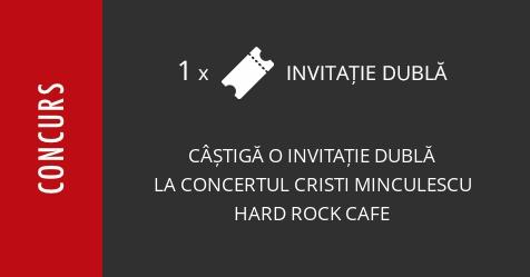 Concurs: câștigă o invitație dublă la concertul Cristi Minculescu, Valter și Boro la Hard Rock Cafe