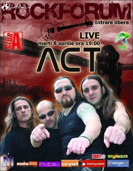 Concert de promovare a trupei ACT in CLUB A