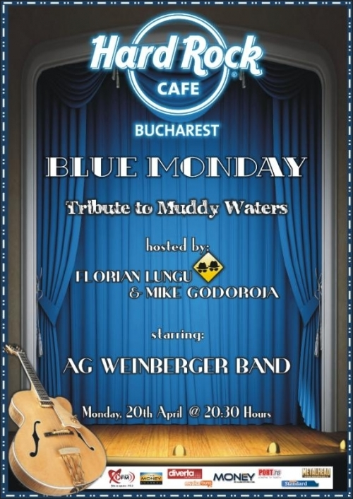 Concert tribut Muddy Waters oferit de AG Weinberger Band in Hard Rock Cafe