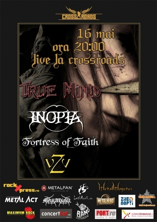 True Mind, Inopia si Fortress Of Faith in Cross-Roads Rock Pub din Brasov