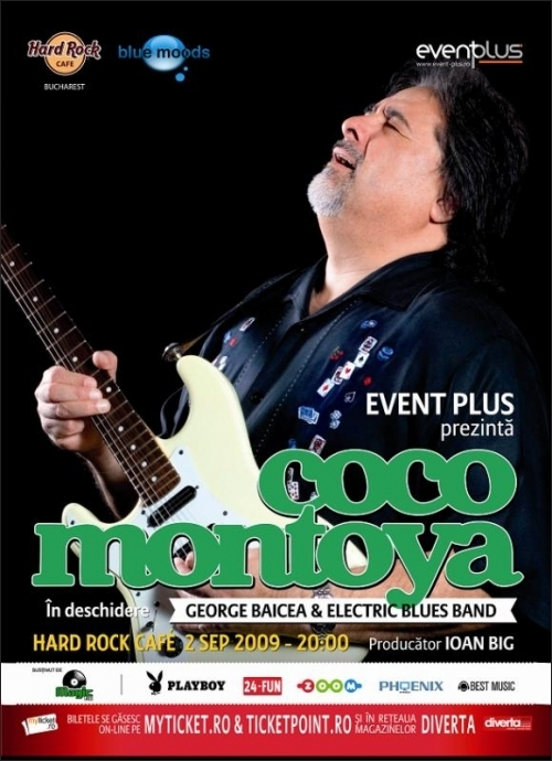 Concert Coco Montoya in Hard Rock Cafe