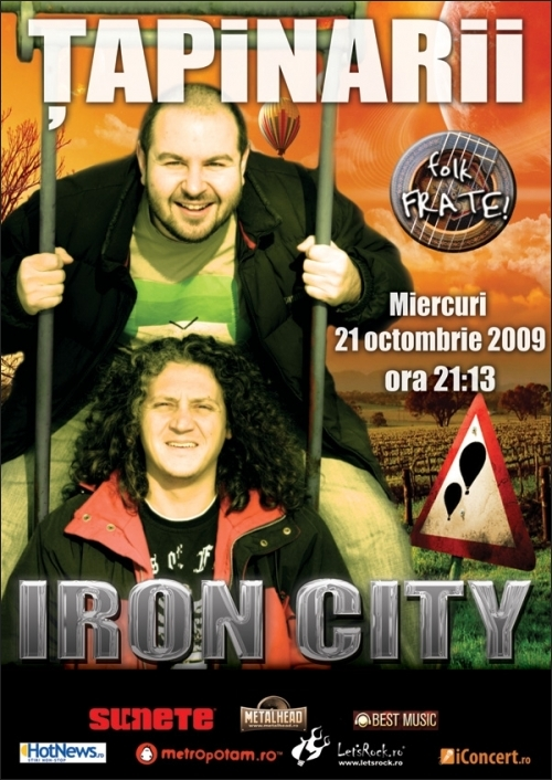 Concert Tapinarii in club IRON CITY