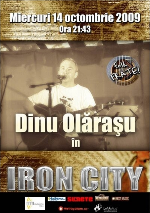 FOLK FRATE prezinta Dinu Olarasu in Club IRON CITY
