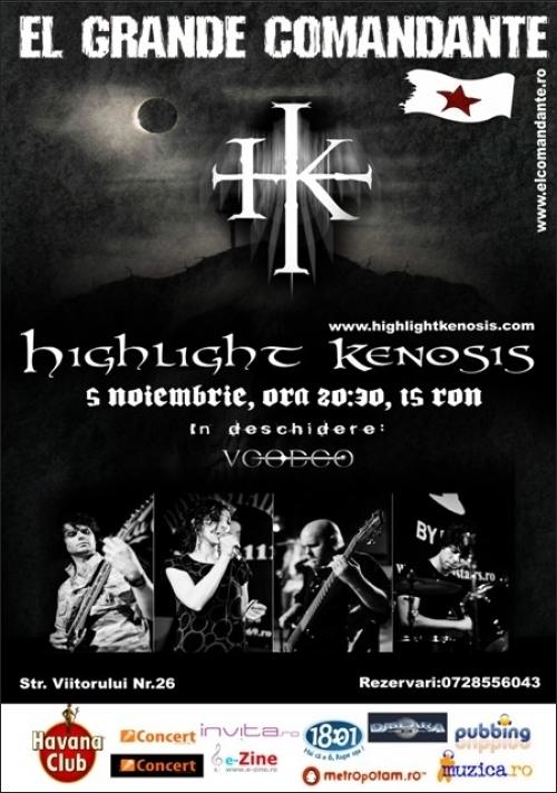 Concert Highlight Kenosis si VooDoo in club El Grande Comandante