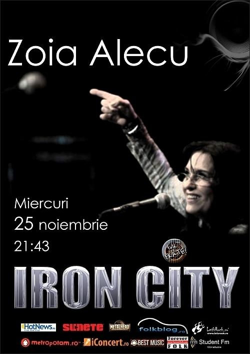 Concert Zoia Alecu in club IRON CITY