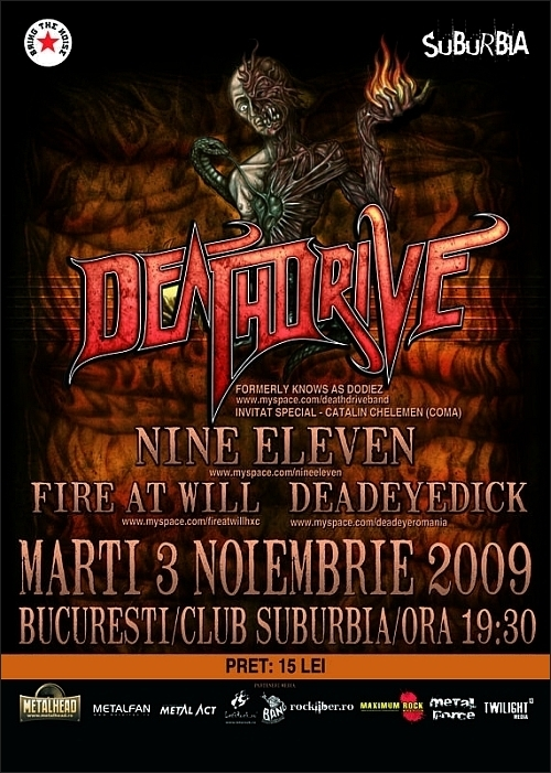 Deathdrive, Nine Eleven, Fire at Will si Deadeye Dick in Suburbia