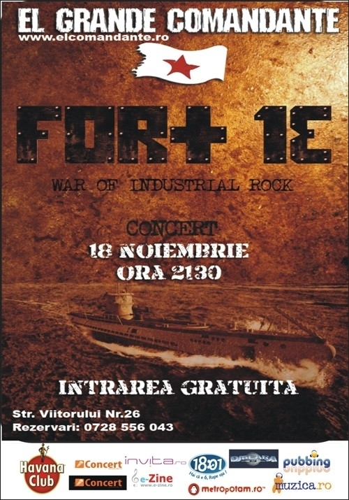 War of Industrial Rock cu Fort 13 in club El Grande Comandante