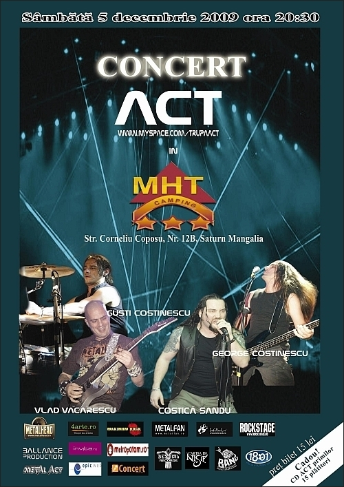 Concert ACT in MHT Club Camping din Saturn Mangalia