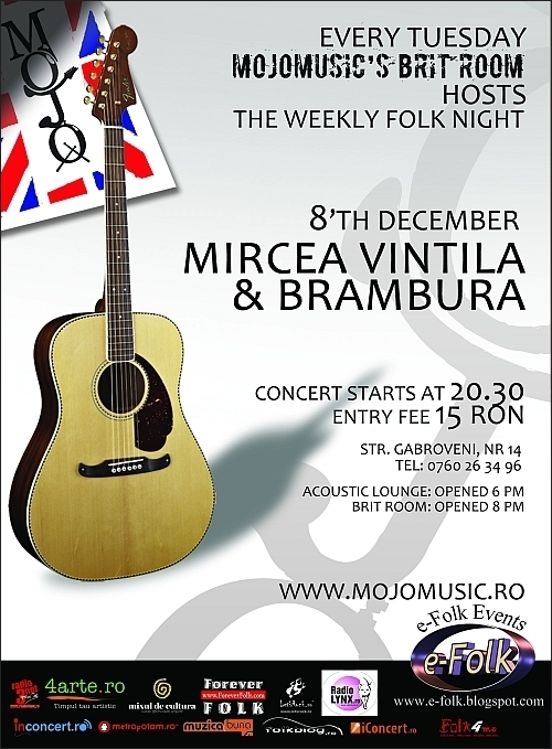 Concert Mircea Vintila & Brambura in club MoJo Brit Room