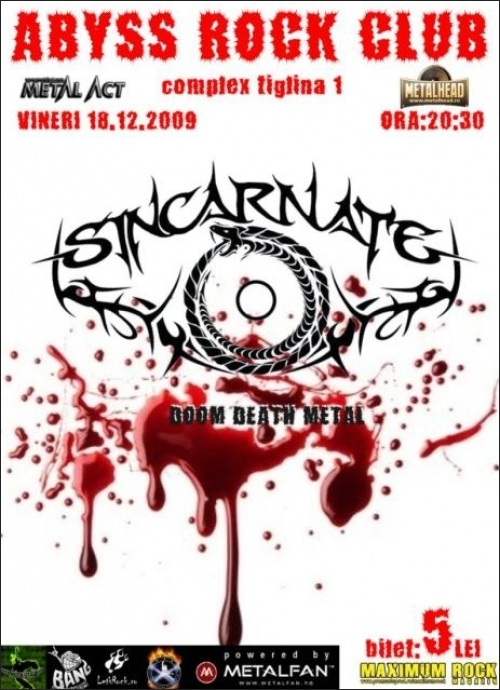 Concert SINCARNATE in ABYSS ROCK CLUB