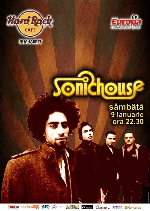 Concert SONICHOUSE in Hard Rock Cafe din Bucuresti