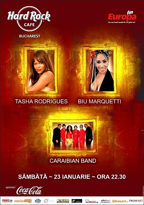 Concert Tasha Rodrigues, Biu Marquetti si Caraibian Band in Hard Rock Cafe
