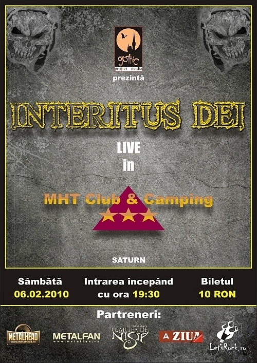 Concert Interitus Dei in MHT Club & Camping din Saturn