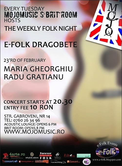 Concert Maria Gheorghiu in Club MoJo Brit Room