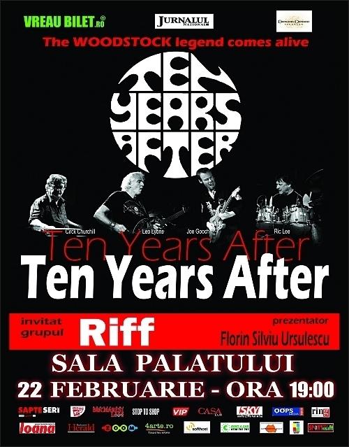 Concert TEN YEARS AFTER si RIFF la Sala Palatului Bucuresti