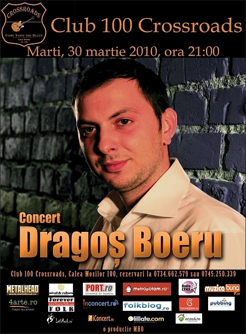 Concert DRAGOS BOERU in 100 CROSSROADS