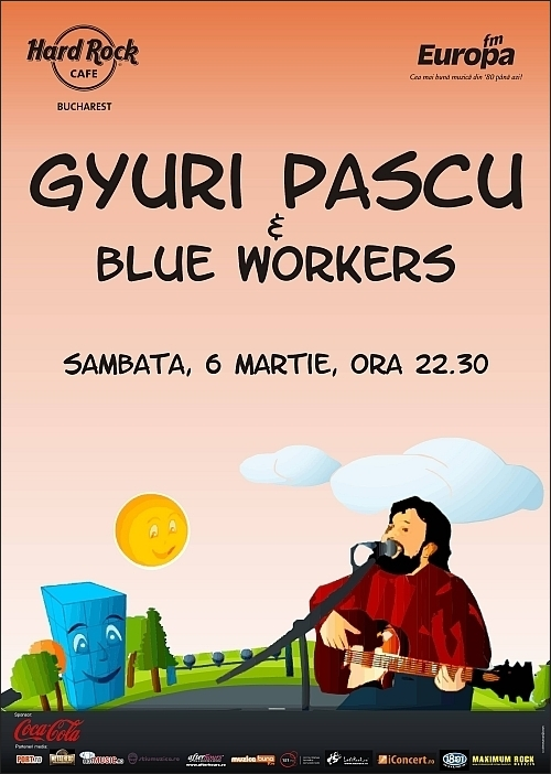 Concert Ioan Gyuri Pascu & Blue Workers in Hard Rock Cafe