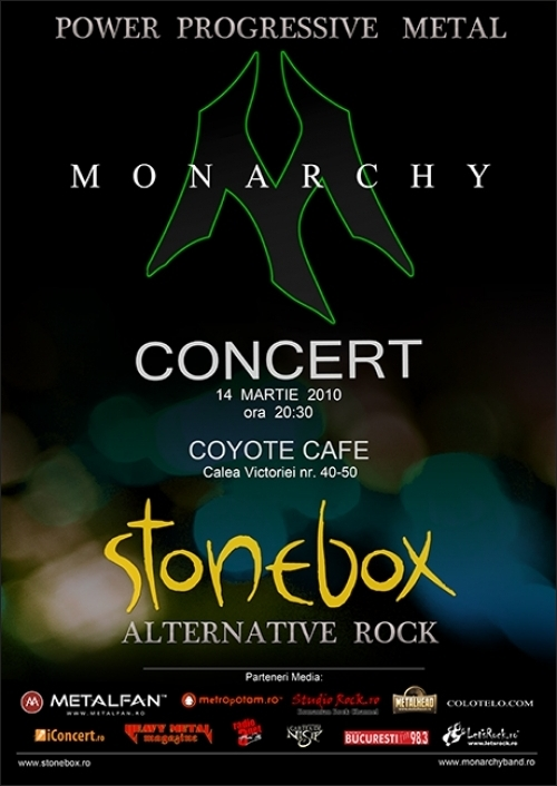 Concert MONARCHY si Stonebox in Coyote Cafe