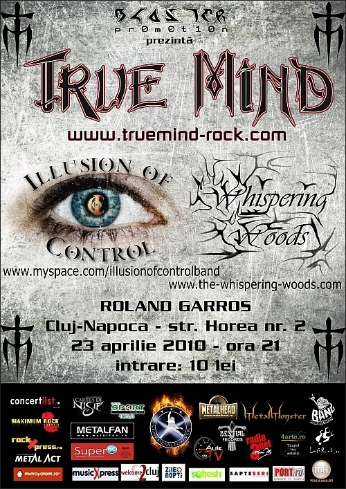 Concert True Mind, Illusion Of Control si Whispering Woods in Club Roland Gar