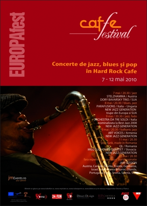 Jazz, blues si pop la Caffe Festival EUROPAfest in Hard Rock Cafe