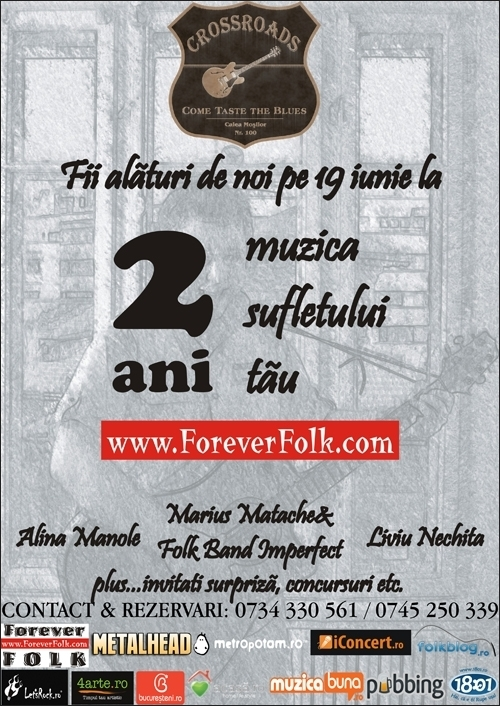 Aniversarea a 2 ani de ForeverFolk in club 100 Crossroads