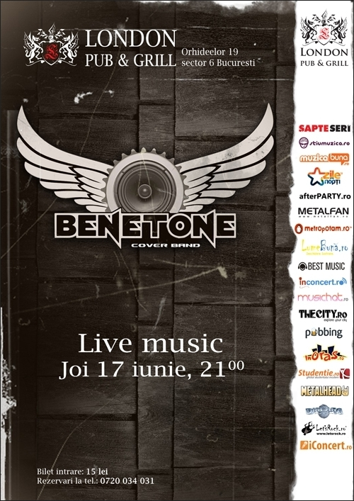 Concert BENETONE in London Pub & Grill