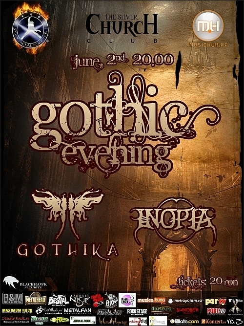 Concert Gothika si Inopia in The Silver Church Club