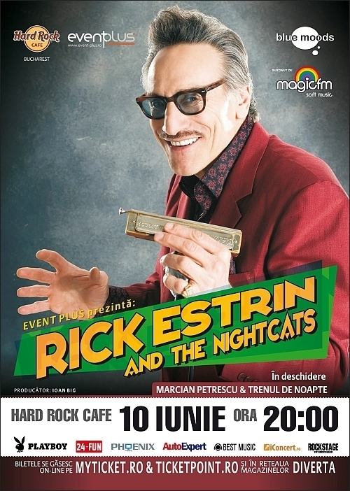 Concert Rick Estrin & Nightcats si Trenul de noapte in Hard Rock Cafe