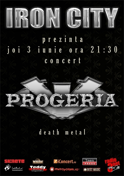 Concert death metal cu Progeria in club Iron City