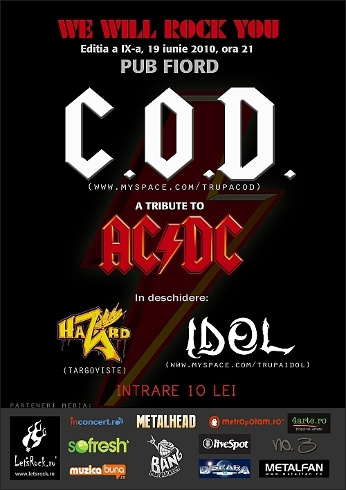 We will rock you editia a IXa, Targoviste cu Hazard, IDOL si C.O.D.
