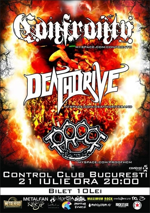Concert Confronto, Deathdrive si Proof in club Control
