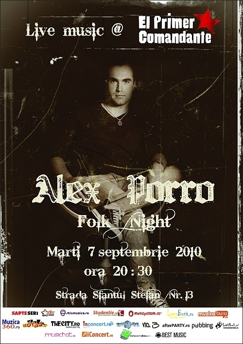 Alex Porro Folk Nights 3 on club El Primer Comandante