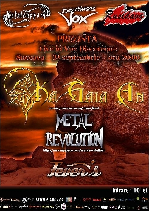 Concert Ka Gaia An, Metal Revolution si Fever's in Discotheque Vox