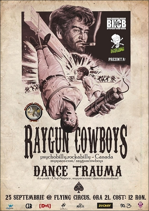 Concert Raygun Cowboys si Dance Trauma in FLYING CIRCUS PUB
