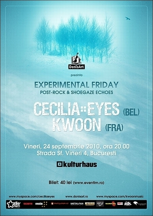 KWOON si CECILIA EYES la EXPERIMENTAL FRIDAY, editia I in Kulturhaus
