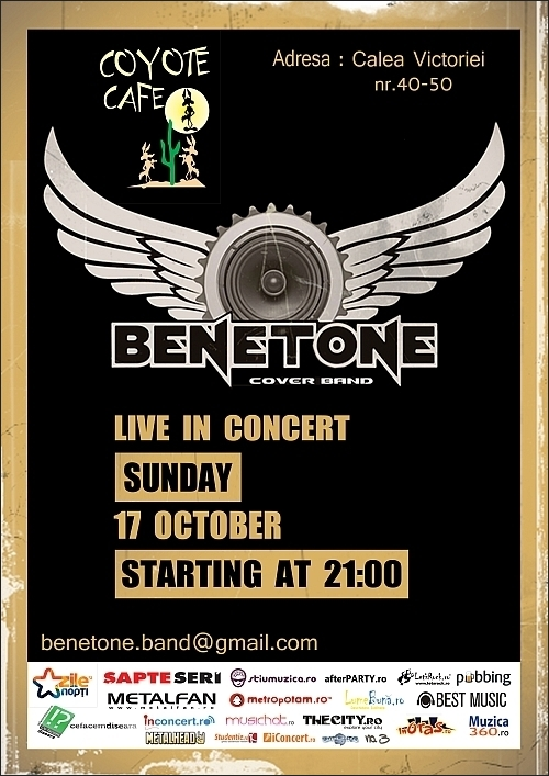 Concert Benetone Cover Band in Coyote Club