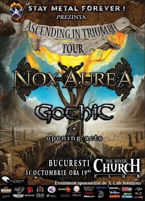 Concert NOX AUREA si GOTHIC in club The Silver Church