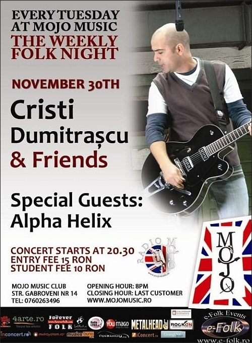 Concert Cristi Dumitrascu & Friends in Club MoJo BritRoom