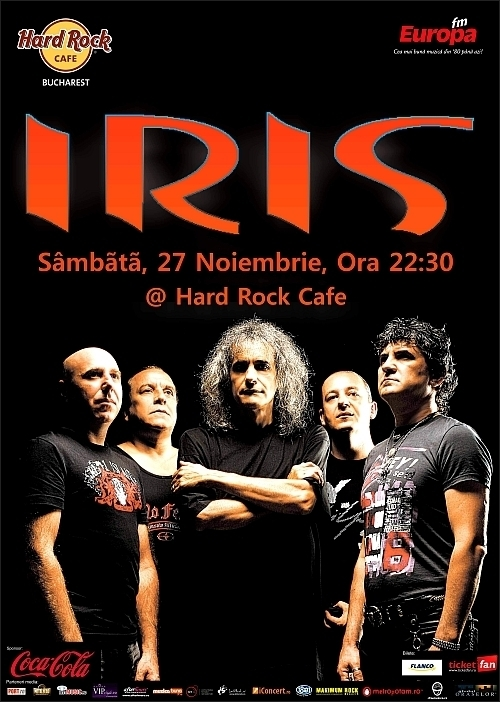 Concert Iris in Hard Rock Cafe in 27 noiembrie 2010