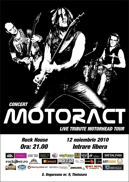 Concert MotorAct in Rock House - turneu national