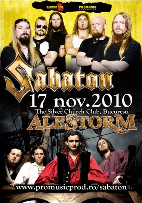 Concert Sabaton in The Silver Church Club, Bucuresti 17 noiembrie 2010