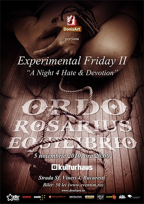Experimental Friday II cu ORDO ROSARIUS EQUILIBRIO in Club Kulturhaus