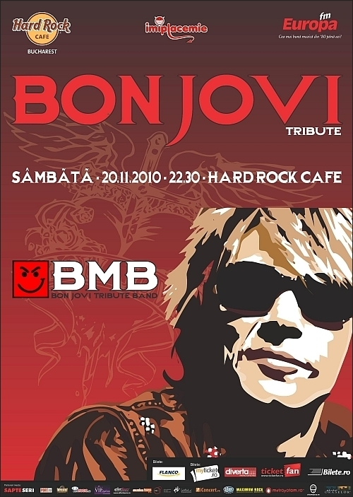 Tribut Bon Jovi cu BMB in Hard Rock Cafe