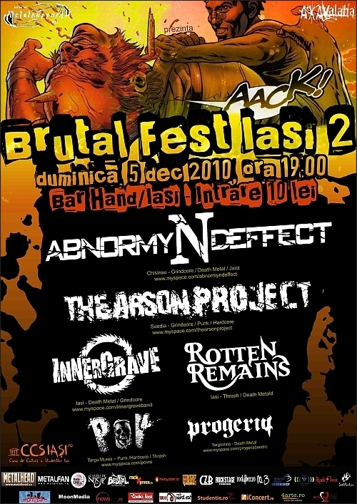 Innergrave, Rotten Remains, P.O.V., Progeria, The Arson Project si Abnormyndeffect la Brutal Fest Iasi 2