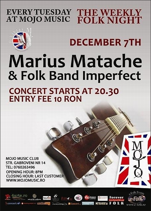 Concert Marius Matache in Club MoJo Brit Room