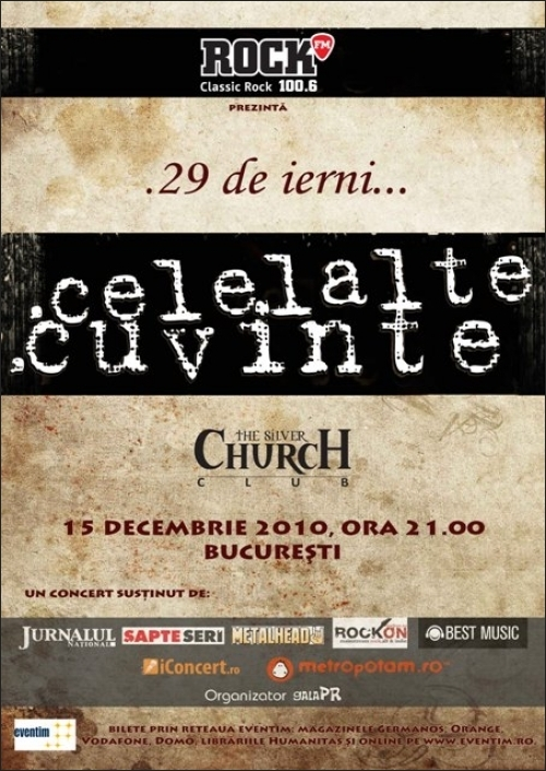 Concert Celelalte Cuvinte in The Silver Church