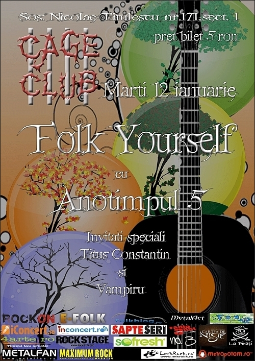 Concert Anotimpul 5 in club Cage la Folk Yourself prima editia pe 2011