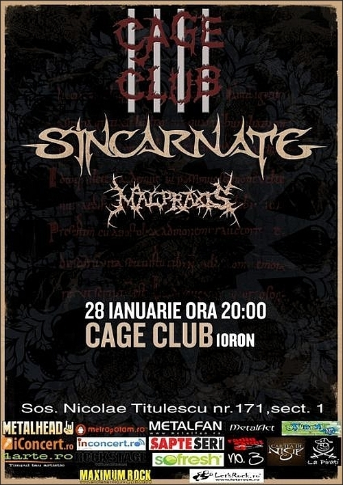 Concert Sincarnate si Malpraxis in Club Cage
