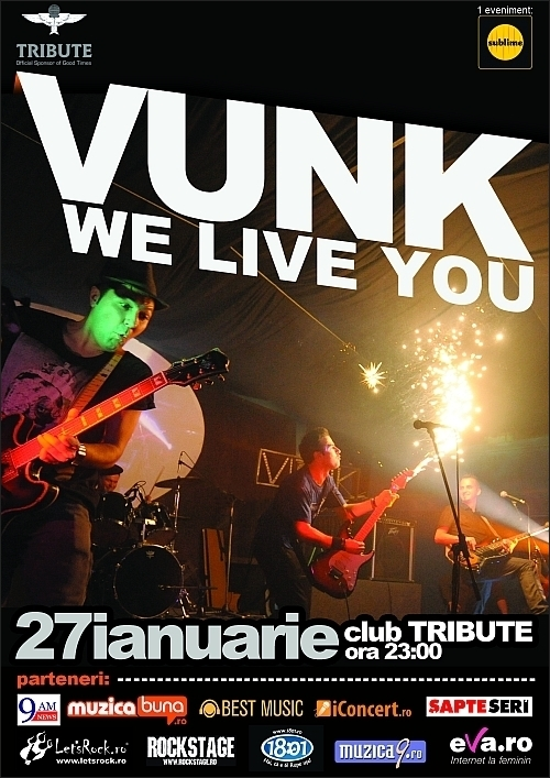 Concert We Live You - Vunk in club Tribute